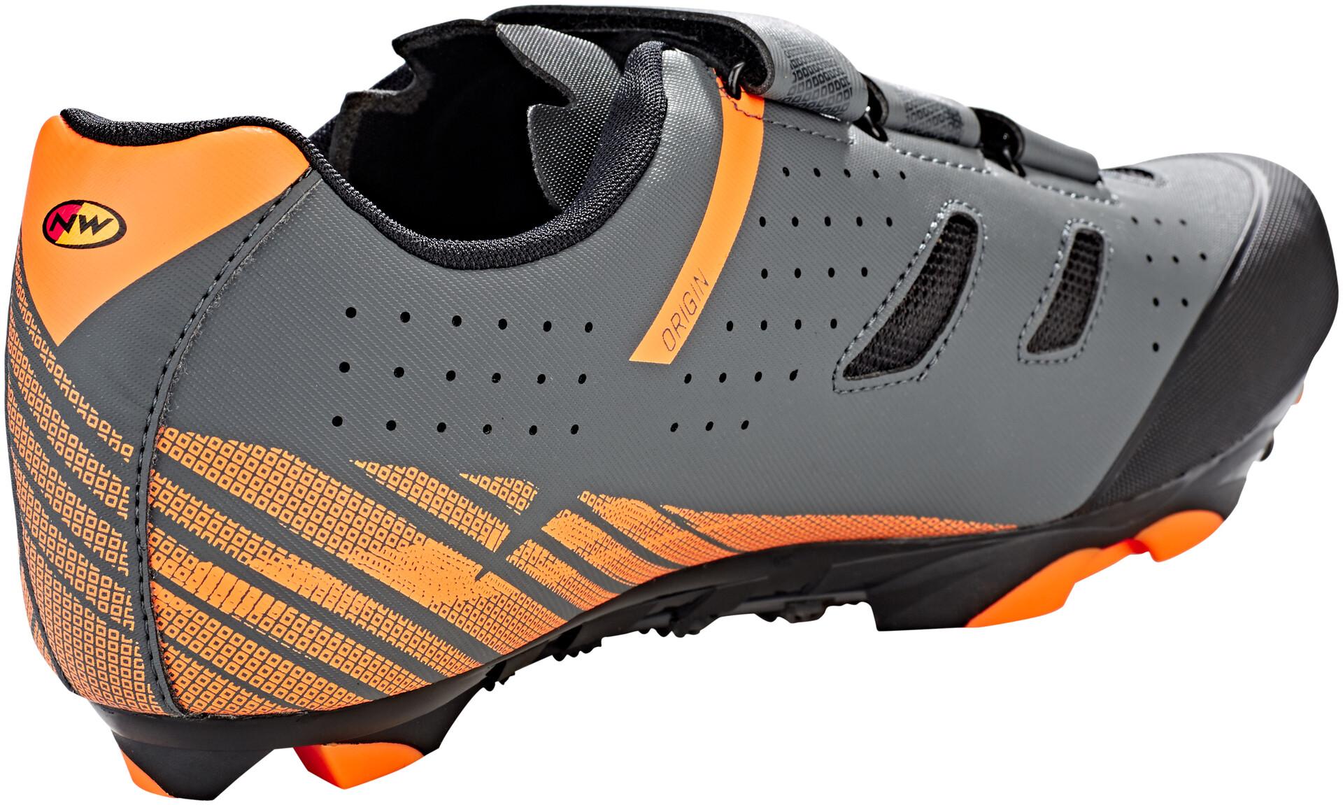 Details zu Northwave Razer MTB Schuhe, Schwarz Orange Fahrradschuhe Herren Mountainbike SPD